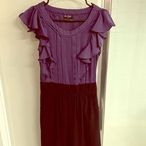 BCBG size 6 purple and black dress